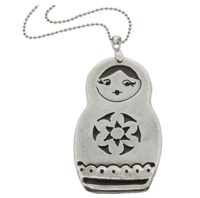 Image of Babushka Doll Pendant necklace