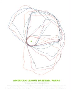 Image of Baseball Parks—To scale and orientation