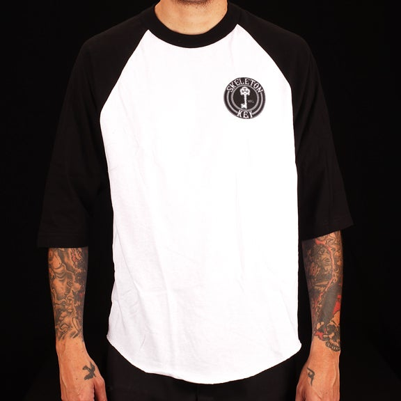 Image of Black Dot- Raglan 3/4 Sleeve T Shirt