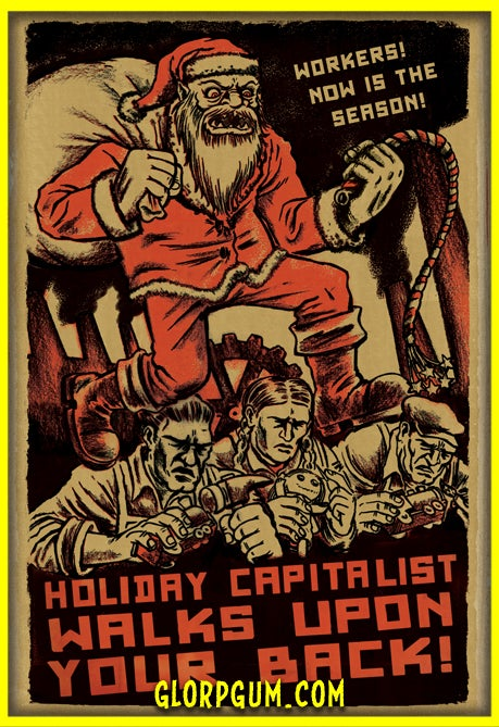 Image of Sweatshop Santa Holiday Cards