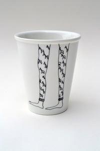 "Image de Gobelet en porcelaine ""Longues jambes"""