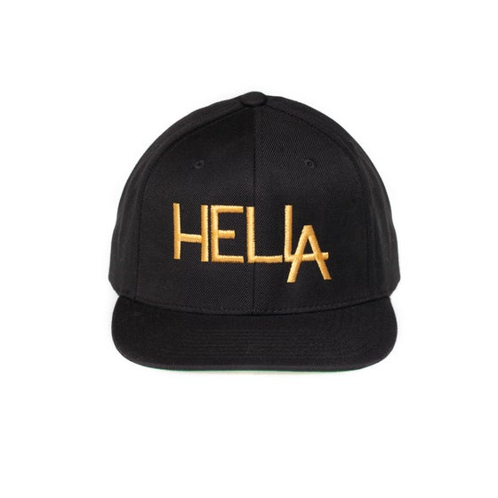 Image of Black HelLA Snapback with Gold Embroidery