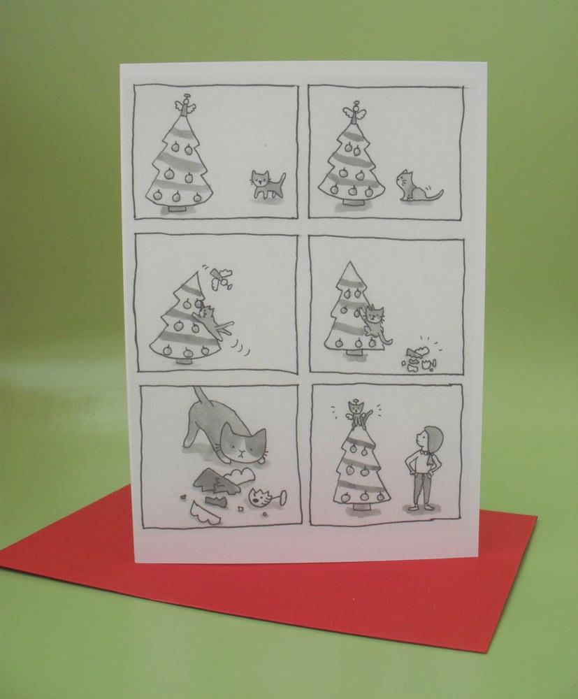 Image of christmas angel blank gift card