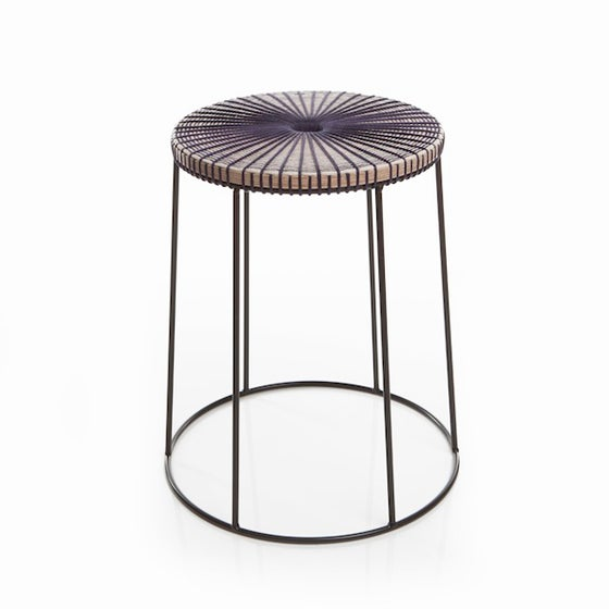 Image of Deep Purple Fade Stool