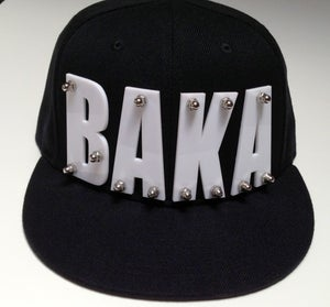 "Image of Acrylic Bolted ""BAKA"" Black SnapBack"