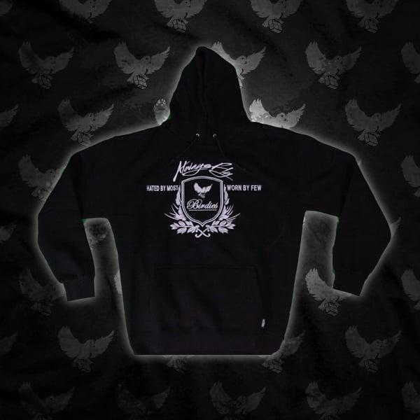 Image of Black/White Birdies Crest Hoodie