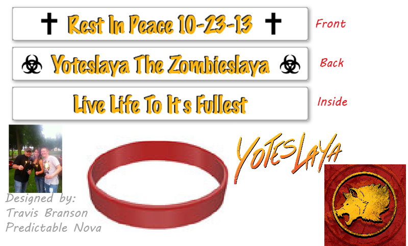 Image of Rest In Peace Yoteslaya Bracelets