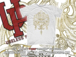 """Image of T-Shirt """"Octo-Pussy"""" White/Gold"""