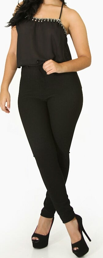 Image of Black High Waist Pants