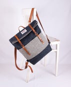 Image of Harris Tweed Denim Blue Roddy Backpack