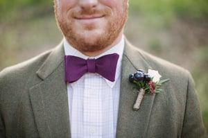 Image of Eggplant Linen Bow Tie