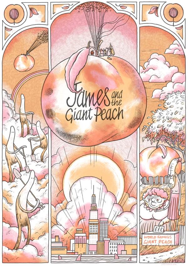 Image of James & the Giant Peach by Roald Dahl - Art Print
