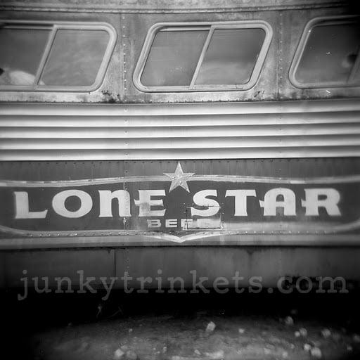 """Image of Lone Star Beer Bus - Holga Print 5""""x 5"""""""