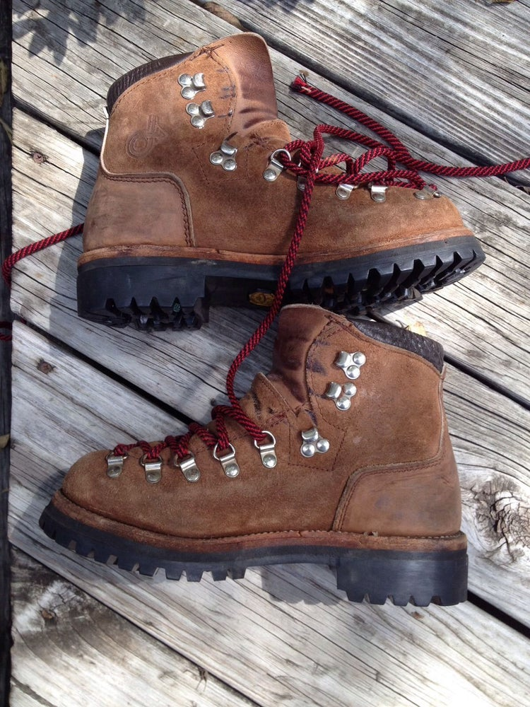 4ae6c90b2a86e vintage DEXTER suede leather MOUNTAINEERING hiking BOOTS men 7M