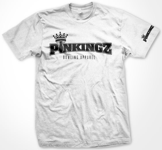 Image of Pinkingz Bowling Basic T-Shirt // White
