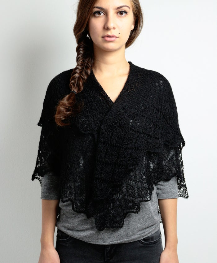 Image of Black Baby Alpaca Scarf