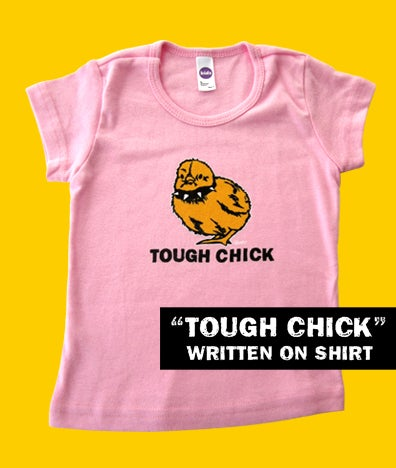 Image of Tough Chick Toddler Pink with TOUGH CHICK text