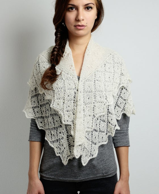 Image of White Baby Alpaca Scarf