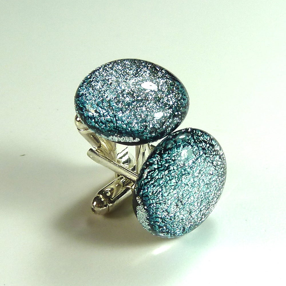 Image of Silver Dichroic Cuff Links