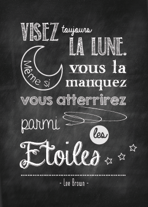 Image of Mini Affiches chalkboard