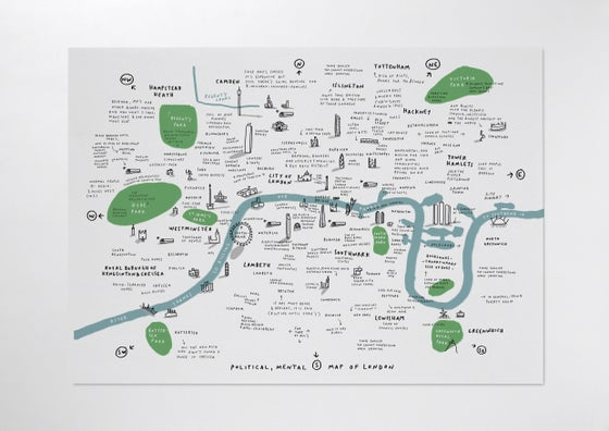 Image of Mental Map of London 2012