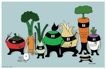 Image of Ninja Pea: Ninja Club Print