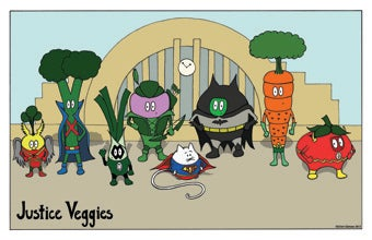 Image of Super Peas: Justice Veggies Print
