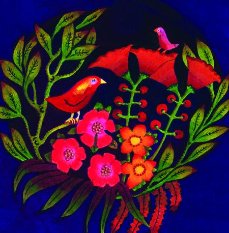 "Image of Pack of 5 ""Birds & Blossoms"" greeting cards"