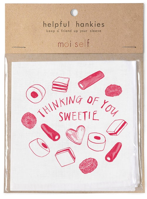Thinking of you Sweetie - Helpful Hanky