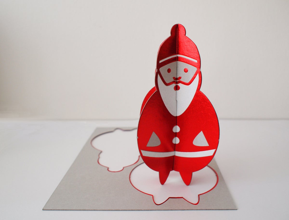 Image of 2 x PopOut Father Christmas