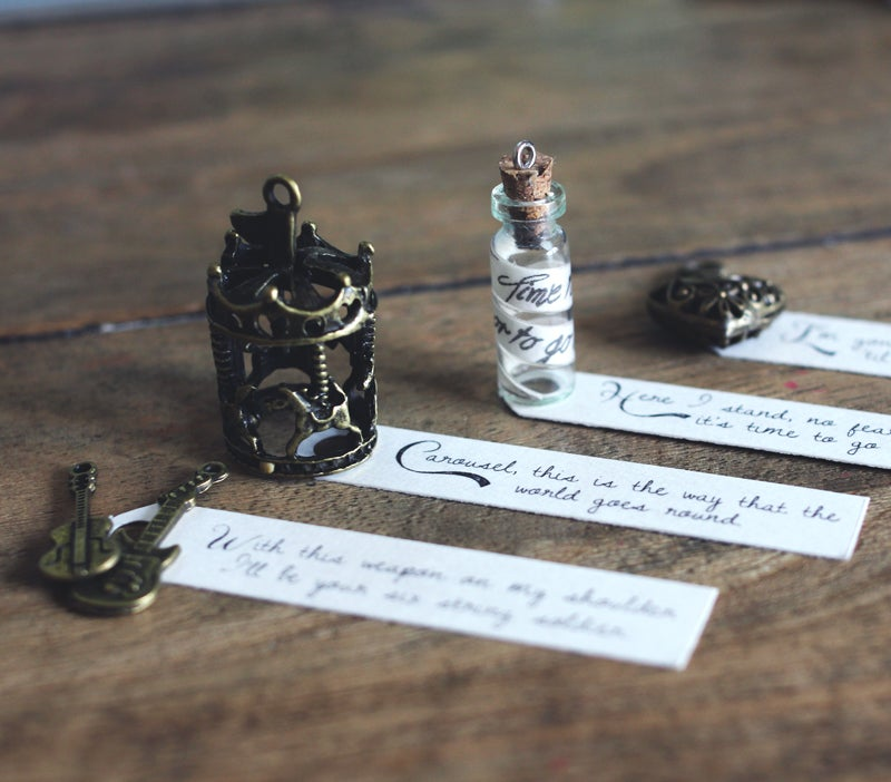 Image of Necklace Lyric Pendants