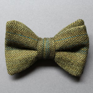 Image of Green Wool Herringbone