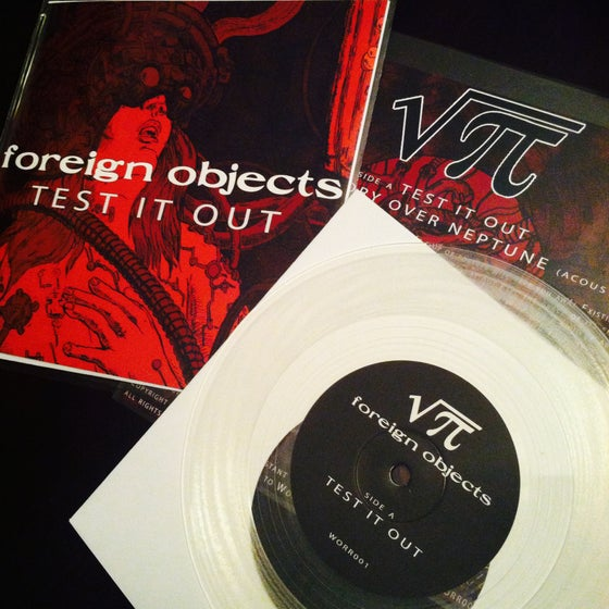 "Image of Foreign Objects ""Test It Out"" Limited Edition 7"" Vinyl (ultra-clear)"