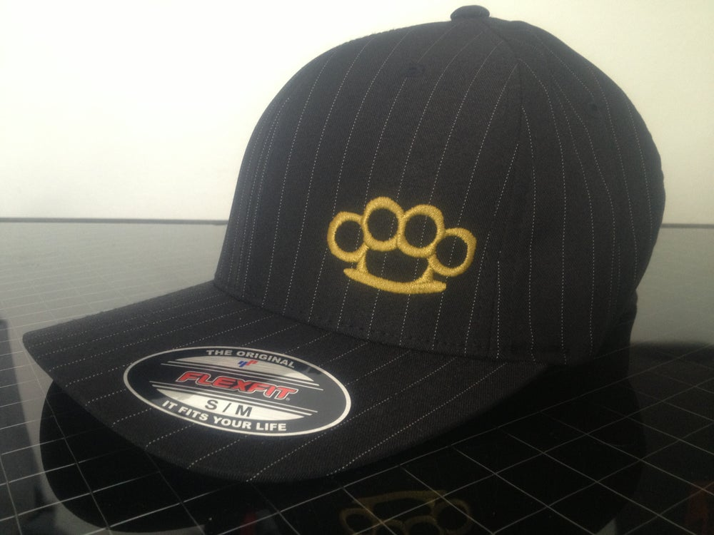 Image of PINSTRIPE STRIPE BRASS KNUCLE HAT