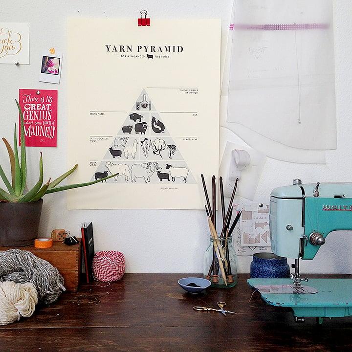 Image of Yarn Pyramid print