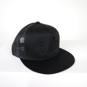 "Image of BWS92 ""Murder Font"" Trucker Hat (BLK)"