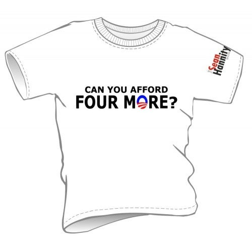 "Image of Womens - ""Can You Afford Four More?"" T-shirts (4MoreWH/Red/Bk-L)"