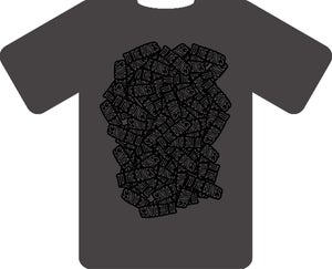Image of GREY TO THE BONES TSHIRT (black design)