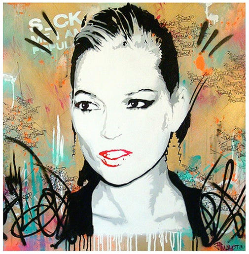 Image of S_CK ME I'M POPULAR KATE GOLD EDITION 80x80 cm