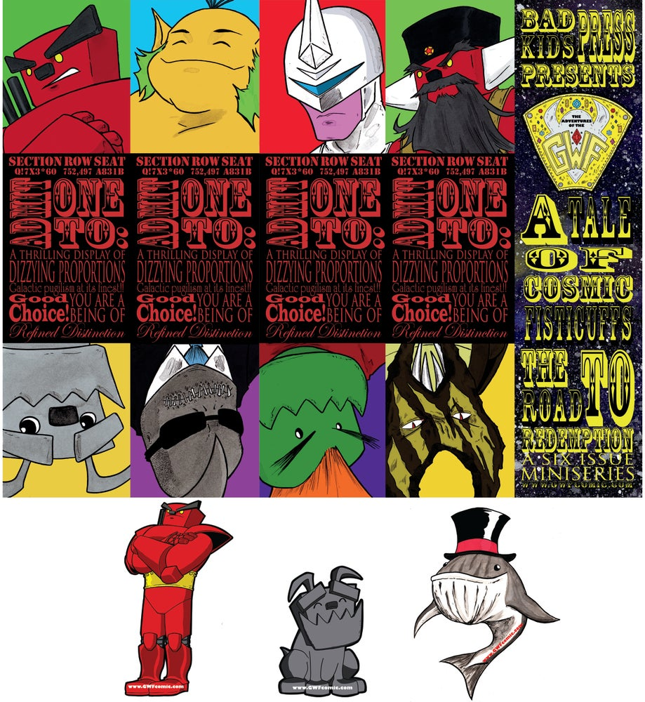 Image of GWF Bookmarks or Sticker Packs