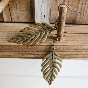 Image of Palm Leaf ear rings