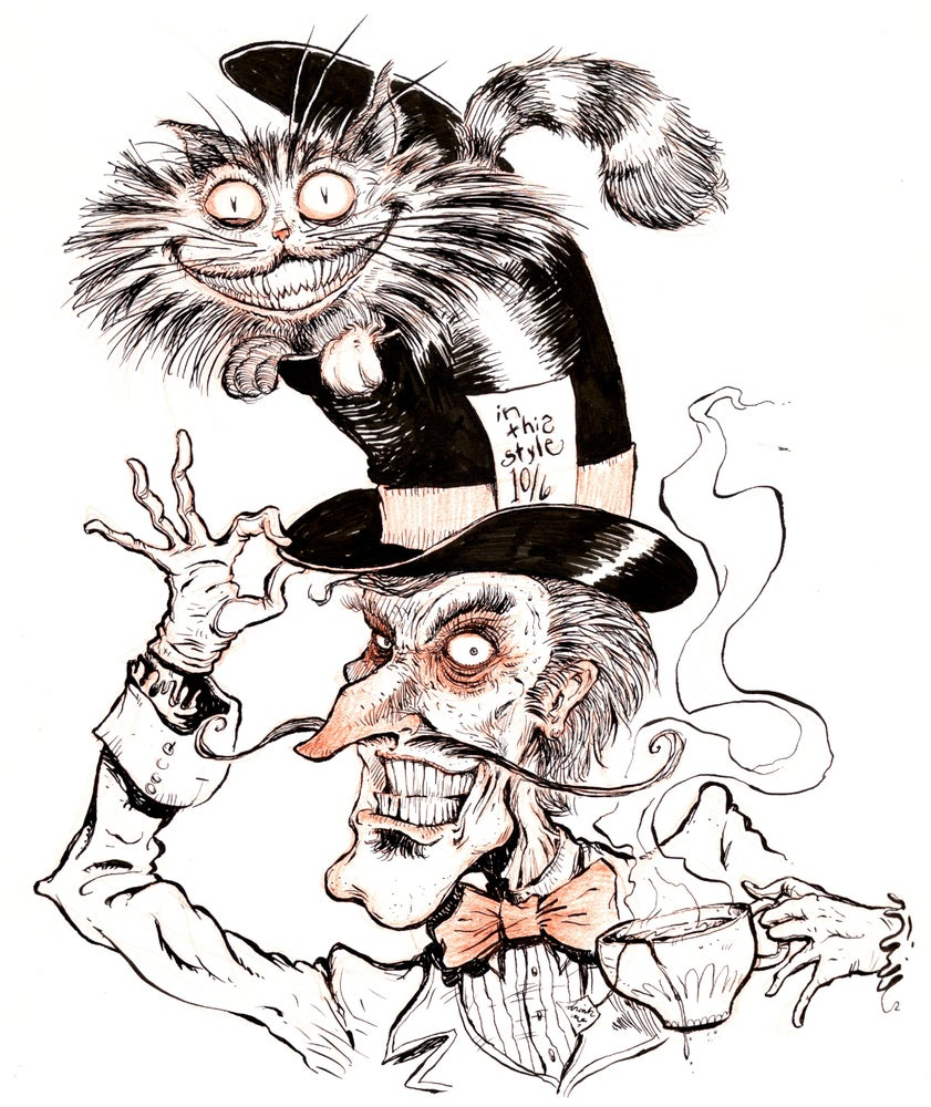 Image of The Mad Hatter & The Cheshire Cat