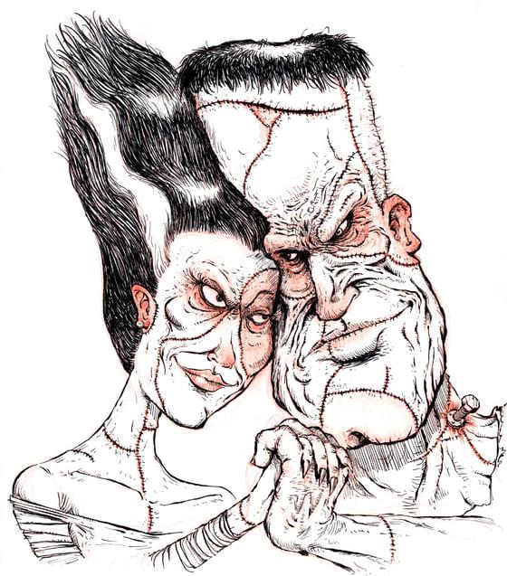 Image of Frankenstein & His Bride