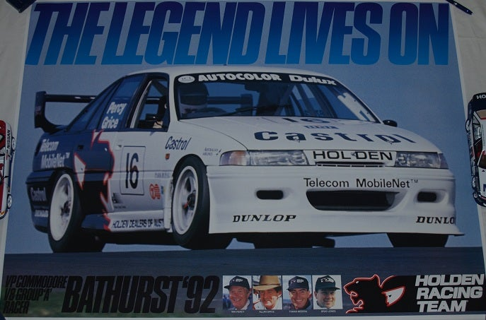 Image of Holden Racing Team. Commodore. Bathurst '92. The Legend Lives on Poster.