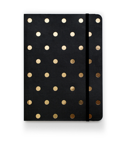 Image of Polka Dot Journal, Black