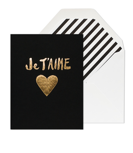 Image of JE T'AIME HEART CARD