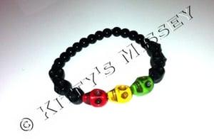 Image of Rasta Skull Bracelet