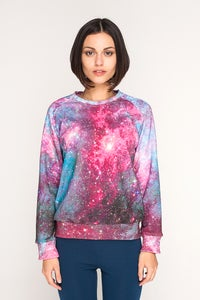 Image of BLM Galaxy Womens Sweatshirt