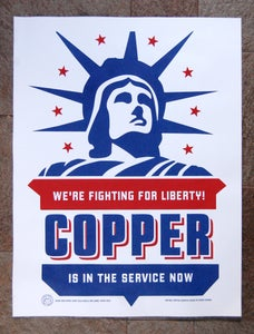 Image of Copper Liberty; Screenprinted Poster