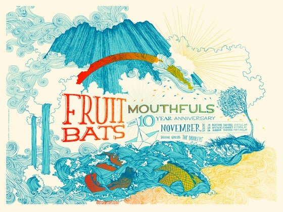 Image of Fruit Bats / Mouthfuls 10 Year Anniversary Poster